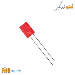 5mm Rectangular flat red LED