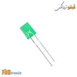 5mm Rectangular flat green LED