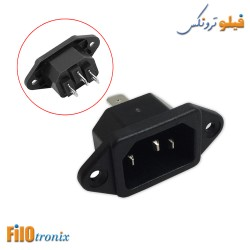 3 Pin IEC C14 AC Inlet Male...